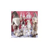 Figurina Spiridus bej cu picioare textil cm 32x23x90 H