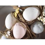 Coronita Paste din lemn decorata cu oua si flori Ø 31 cm