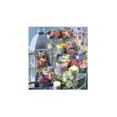 Buchet peonia artificiale roz intens 32 cm