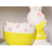 Suport ou ceramic Bunny Yellow