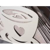Suport pentru servetele metal bej model Ceasca cm 15 cm x 4 cm x 10 cm