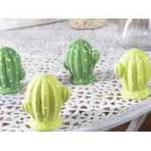 Set solnita pipernita din ceramica Cactus verde deschis