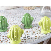 Set solnita pipernita din ceramica Cactus verde inchis
