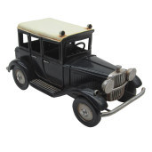 Macheta masina retro neagra metal 17*8*9 cm