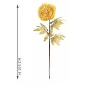 Floarea artificiala Peonia galbena 105 cm
