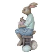 Figurina Iepuras Paste polirasina Clayre 8*8*16 cm