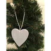 Decoratiune brad lemn 5cm inima