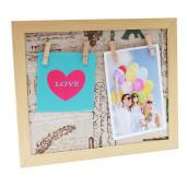 Rama foto suspendabila LOVE lemn natur 28 cm x 23 cm