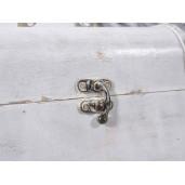 Cufar lemn alb antichizat bijuterii 15 x 9,8 x 10,5 H