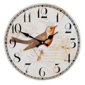 Ceas de perete lemn Bird Ø 34 cm
