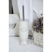 Perie toaleta ceramica alb gri Salle de Bain Ø 12 cm X 26 h