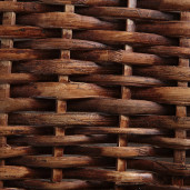 Cos rufe din rattan maro Lily 48x35x58H