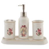 Set baie ceramica alba 4 piese Roses
