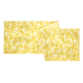Fata de masa galbena alba Flowers 160x45 cm