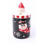 Candela ceramica Snowman 10cm