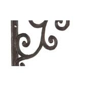 Suport pentru polita fier forjat maro 14x14x2 cm