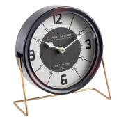 Ceas de masa metal negru Clement Black 25x22h